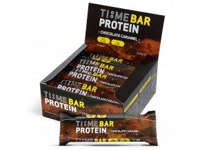 TIME 4 NUTRITION TIME BAR proteinová tyčinka s příchutí čokoláda karamel v krabici